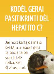 Kodėl gerai išsitirti dėl hepatito C?