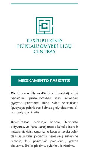 Atkryčio prevencija disulfiramu