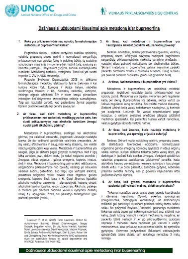 Dažniausiai užduodami klausimai apie metadoną ir (ar) buprenorfiną