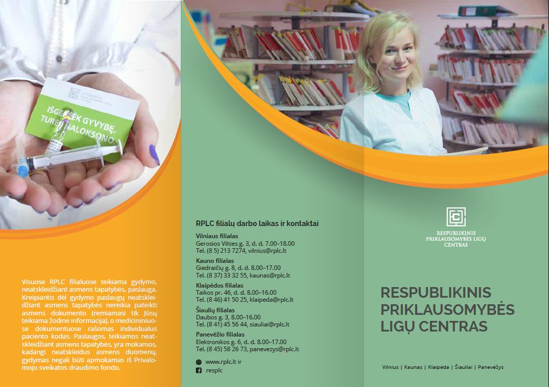 Respublikinio priklausomybės ligų centro paslaugos