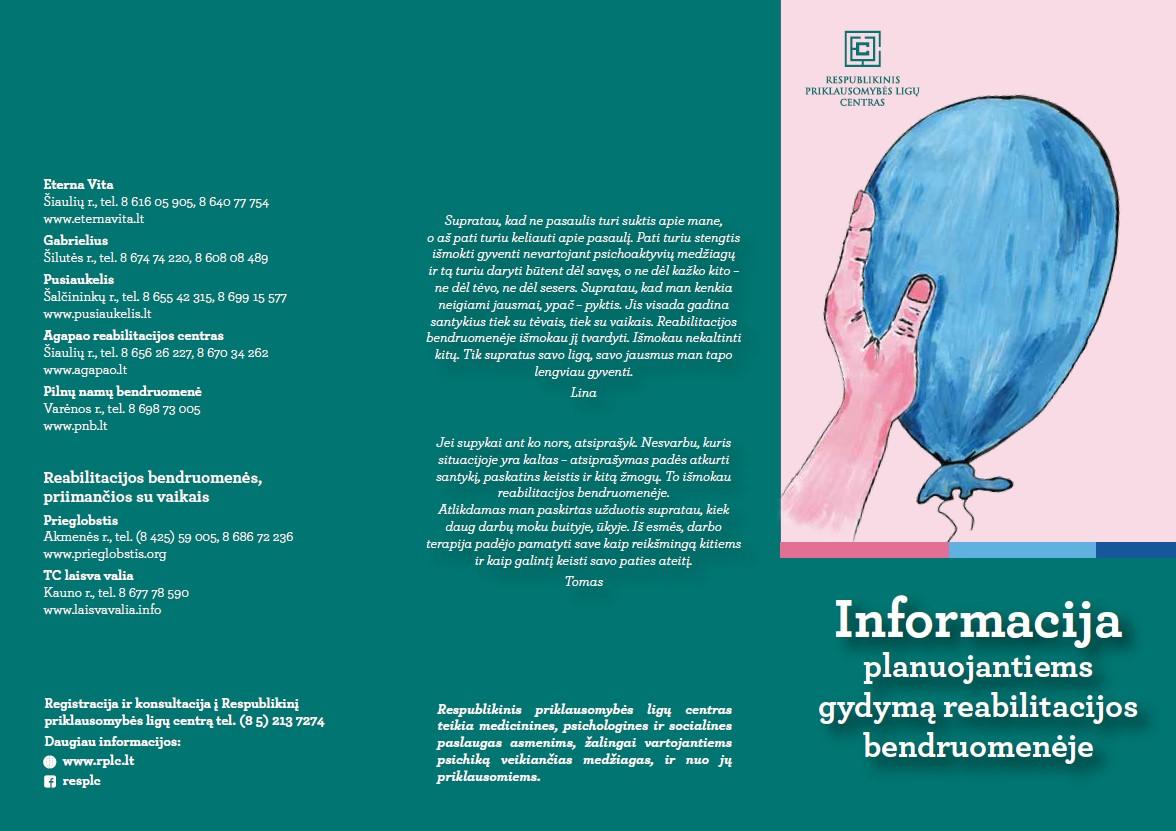 Informacija planuojantiems gydymą reabilitacijos bendruomenėje